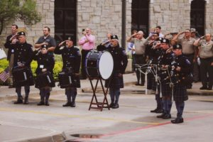 The Sherman Police Regional Pipe Band